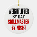 Weightlifter Grillmaster Christmas Tree Ornaments