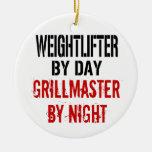 Weightlifter Grillmaster Ornamento Para Reyes Magos
