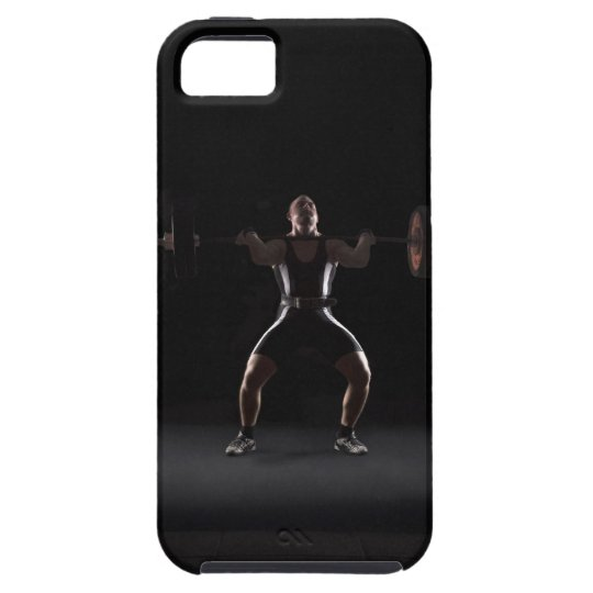 Weightlifter jerking weight iPhone SE/5/5s case