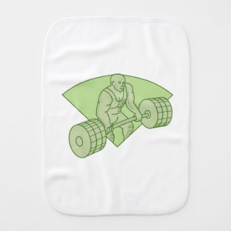 Weightlifter Lifting Barbell Mono Line Burp Cloth