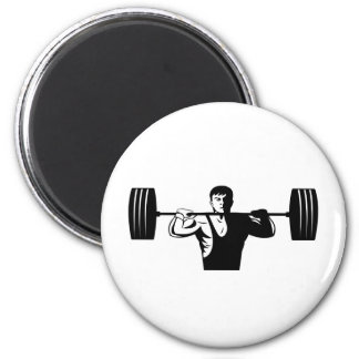 weightlifter lifting weights body builder refrigerator magnets