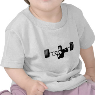 weightlifter lifting weights body builder t-shirts