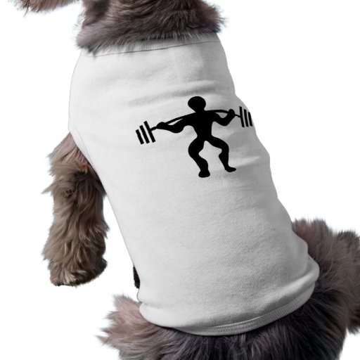Weightlifter Lifting Weights Pet Tee