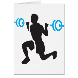 Weightlifter Note Cards