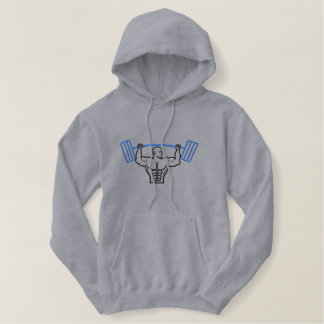 Weightlifter Outline Embroidered Hoodie