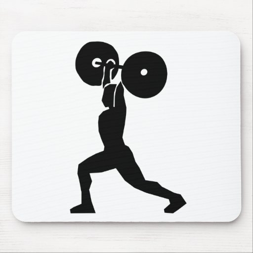 Weightlifter Silhouette Mousepads