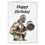 Weightlifter Tarjeta De Felicitación