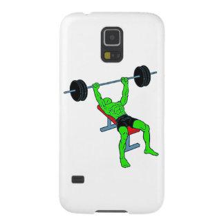 Weightlifter verde Benchpress Carcasa De Galaxy S5