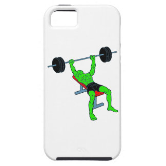 Weightlifter verde Benchpress iPhone 5 Case-Mate Coberturas