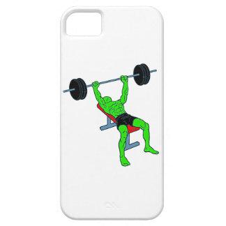 Weightlifter verde Benchpress iPhone 5 Carcasa