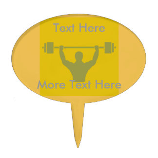 Weightlifter Workout T-shirt Graphic Cake Topper