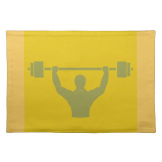 Weightlifter Workout T-shirt Graphic Cloth Placemat