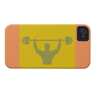 Weightlifter Workout T-shirt Graphic iPhone 4 Case