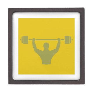 Weightlifter Workout T-shirt Graphic Keepsake Box