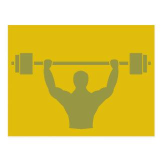 Weightlifter Workout T-shirt Graphic Postcard
