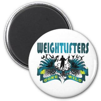 Weightlifters idos salvajes imán redondo 5 cm