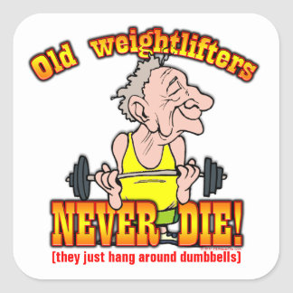 Weightlifters Square Sticker