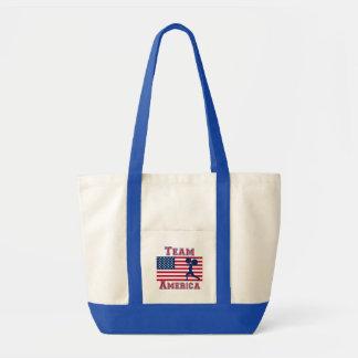 Weightlifting American Flag Team America Canvas Bag