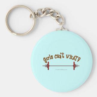 Weightlifting - Barbell Basic Round Button Keychain