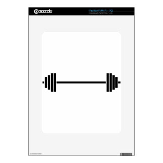 Weightlifting Barbell Decal For iPad