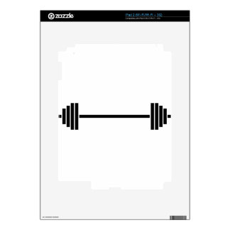 Weightlifting Barbell Decal For iPad 2