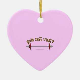 Weightlifting - Barbell Double-Sided Heart Ceramic Christmas Ornament