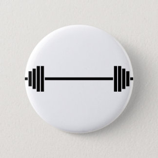 Weightlifting Barbell Pinback Button