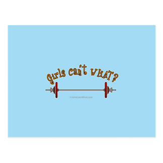 Weightlifting - Barbell Post Card
