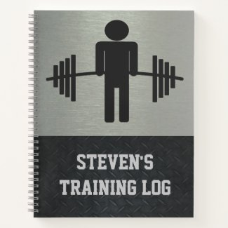 Weightlifting Barbell Workout Gym Training Log Notebook