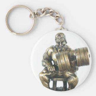 Weightlifting Basic Round Button Keychain