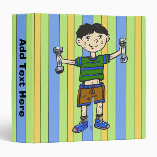 Weightlifting Boy 3 Ring Binder