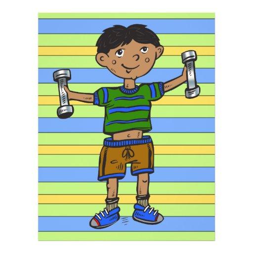 """Weightlifting Boy 8.5"""" X 11"""" Flyer"""