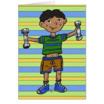 Weightlifting Boy Card