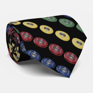 Weightlifting Bumper Plate Tie - Black