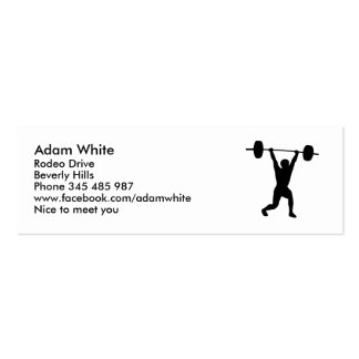 Weightlifting Business Card Templates