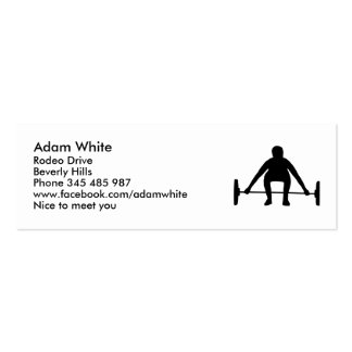 Weightlifting Business Card Template
