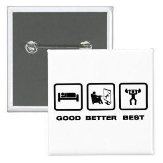 Weightlifting Pinback Button