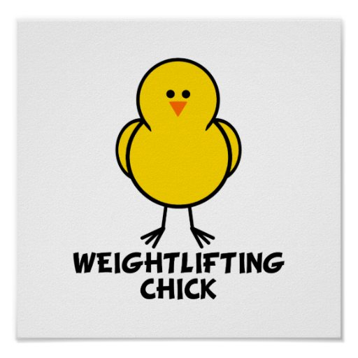 Weightlifting Chick Poster