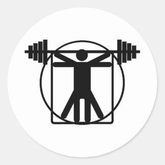 Weightlifting Classic Round Sticker