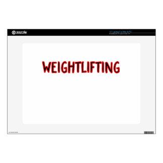 """Weightlifting Design 15"""" Laptop Skins"""