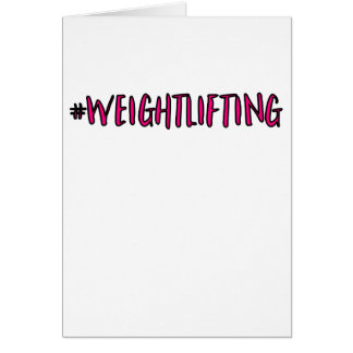 Weightlifting Design Card