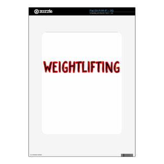 Weightlifting Design Decal For iPad