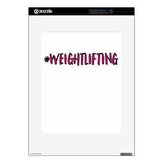 Weightlifting Design Decals For iPad