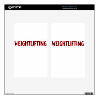 Weightlifting Design Decals For Kindle Fire