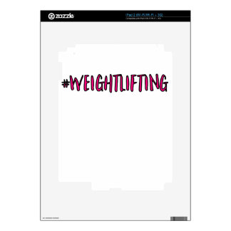 Weightlifting Design Decals For The iPad 2