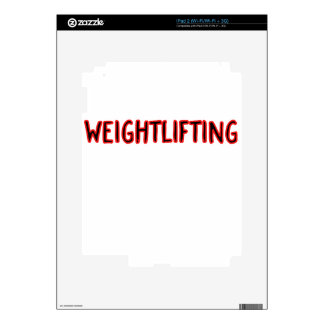 Weightlifting Design iPad 2 Decal