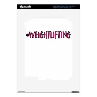 Weightlifting Design iPad 3 Decal
