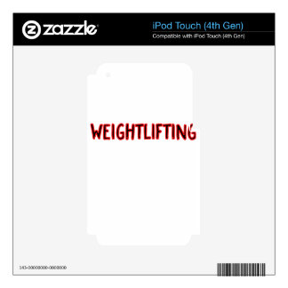 Weightlifting Design iPod Touch 4G Skins