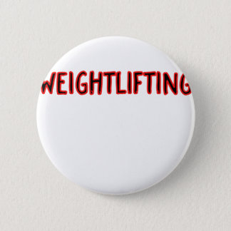 Weightlifting Design Pinback Button