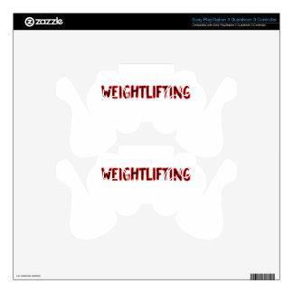 Weightlifting Design PS3 Controller Decals